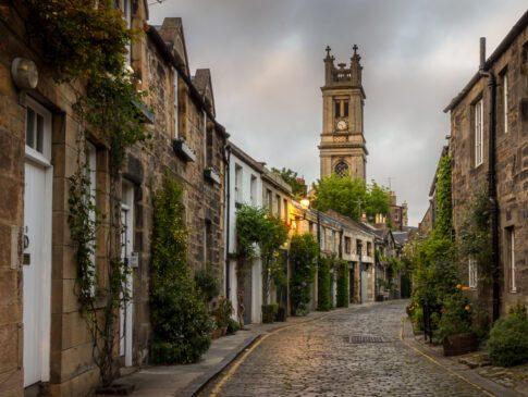 Barrio de Dean Village y río Water of Leith
