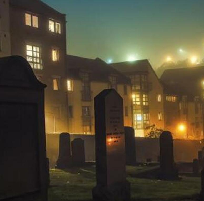 Cementerio de Edimburgo en el Free Tour de los Fantasmas
