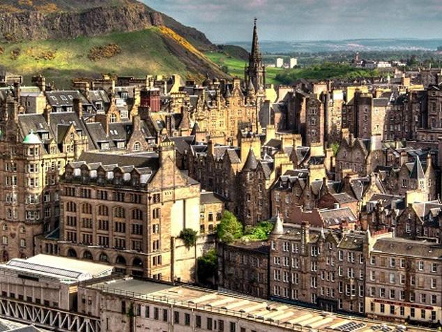 Panorámica de la Ciudad Vieja de Edimburgo